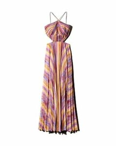 Amur Painted-Stripe Maxi Dress