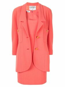 Chanel Pre-Owned CC setup suit jacket dress - Pink