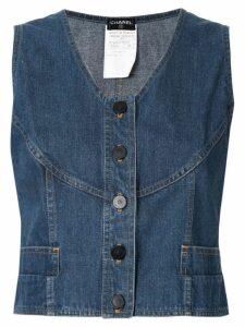 Chanel Pre-Owned sleeveless vest top - Blue