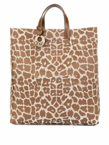 Fendi Pre-Owned leopard hand tote bag - Brown