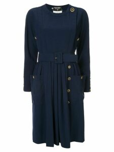 Chanel Pre-Owned belted dress - Blue