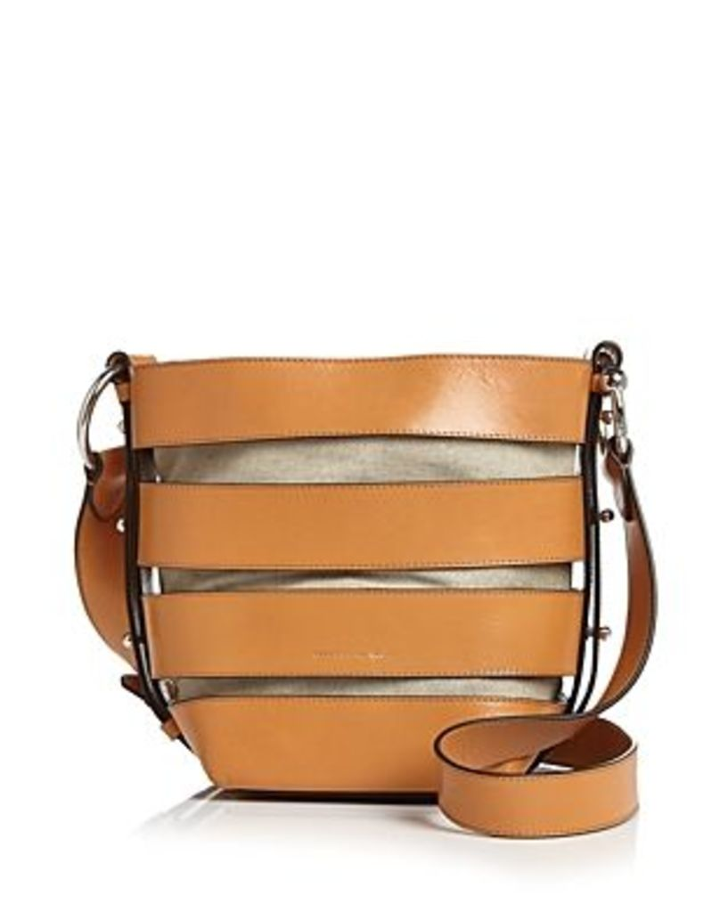 Rebecca Minkoff Cage Leather Convertible Bucket Bag