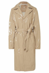 Rains - Glossed-pu Trench Coat - Beige