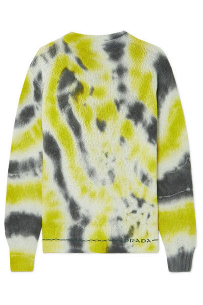 Prada - Tie-dyed Wool And Cashmere-blend Sweater - Green
