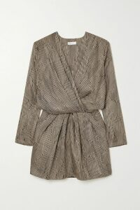 Rains - Glossed-pu Trench Coat - Black