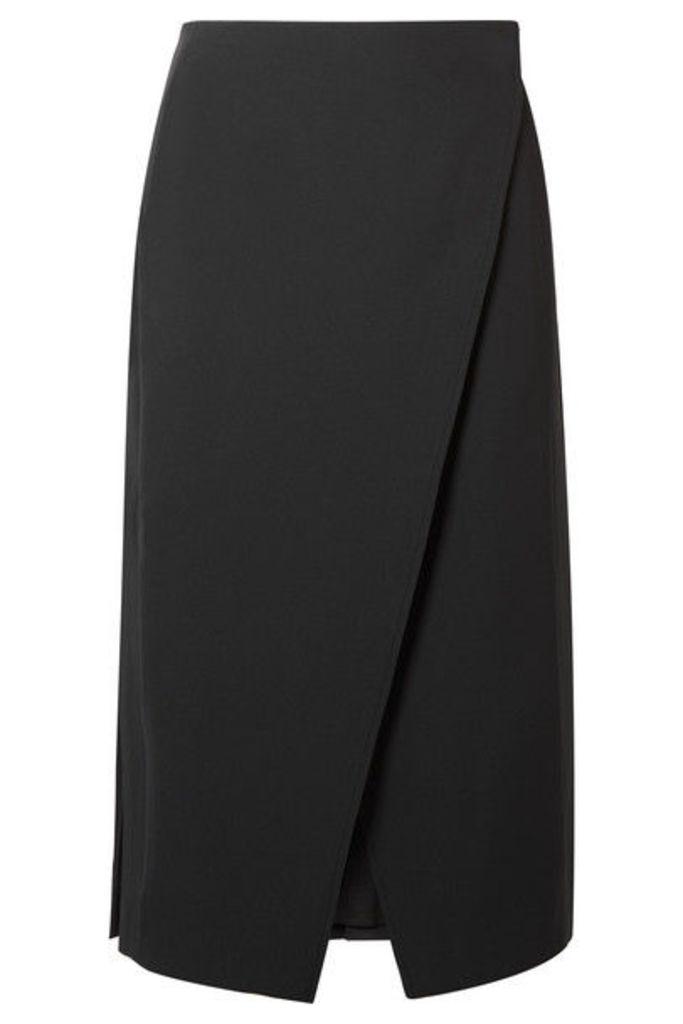 Beaufille - Kari Pleated Twill Wrap Skirt - Black