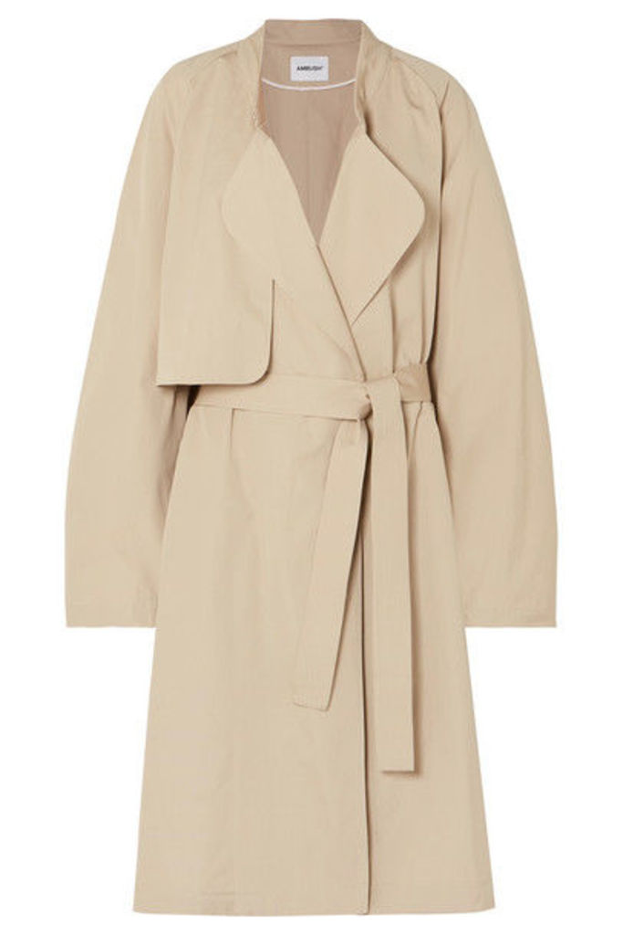 AMBUSH® - Belted Cotton Coat - Beige