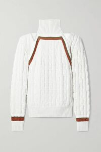 Valentino - Leather Midi Skirt - Black