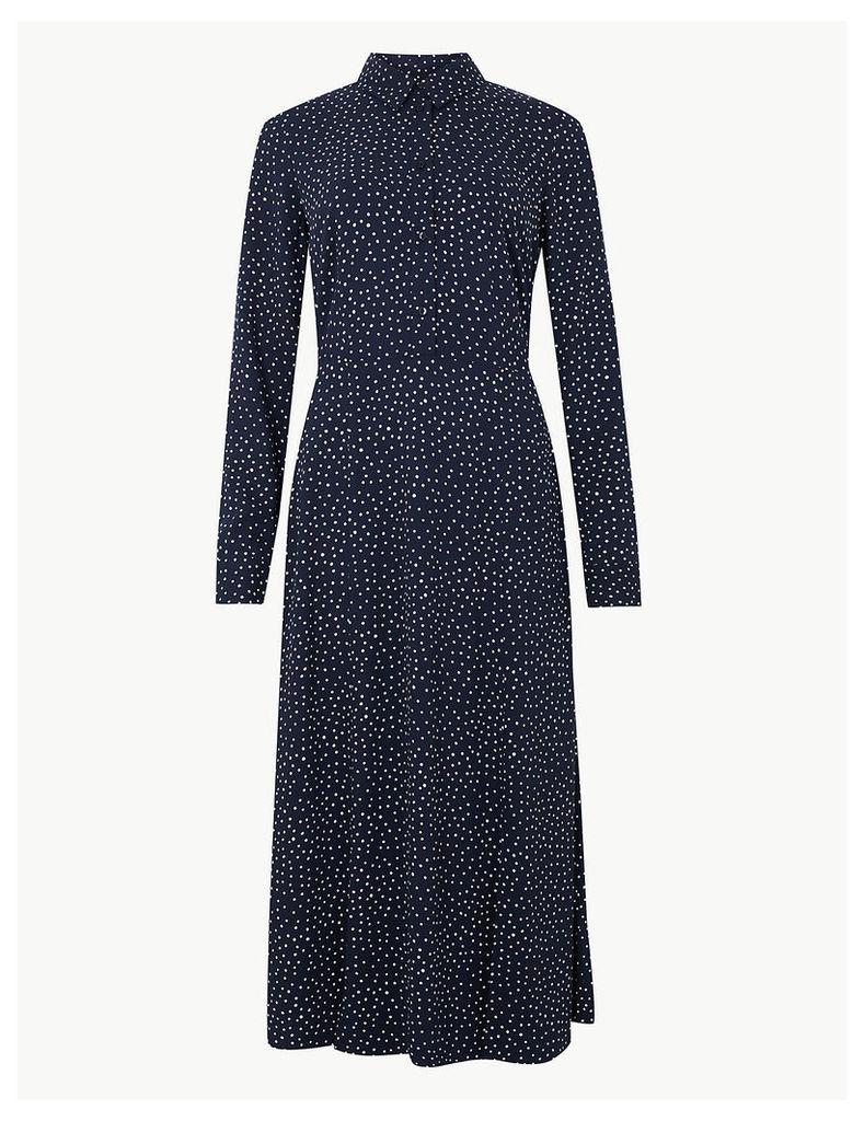 M&S Collection Polka Dot Shirt Midi Dress