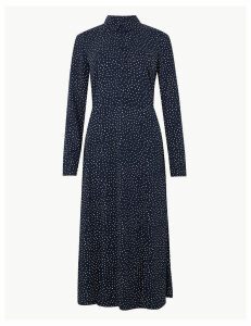 M&S Collection Polka Dot Shirt Midi Dress