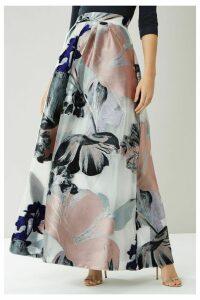 Womens Coast Silver Daphne Jacquard Full Skirt -  Silver