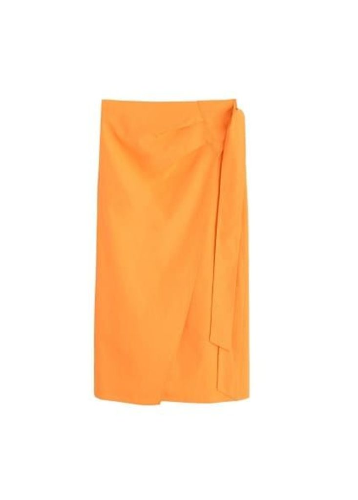 Midi cross skirt