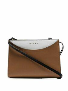Marni camel Law leather crossbody bag - Neutrals