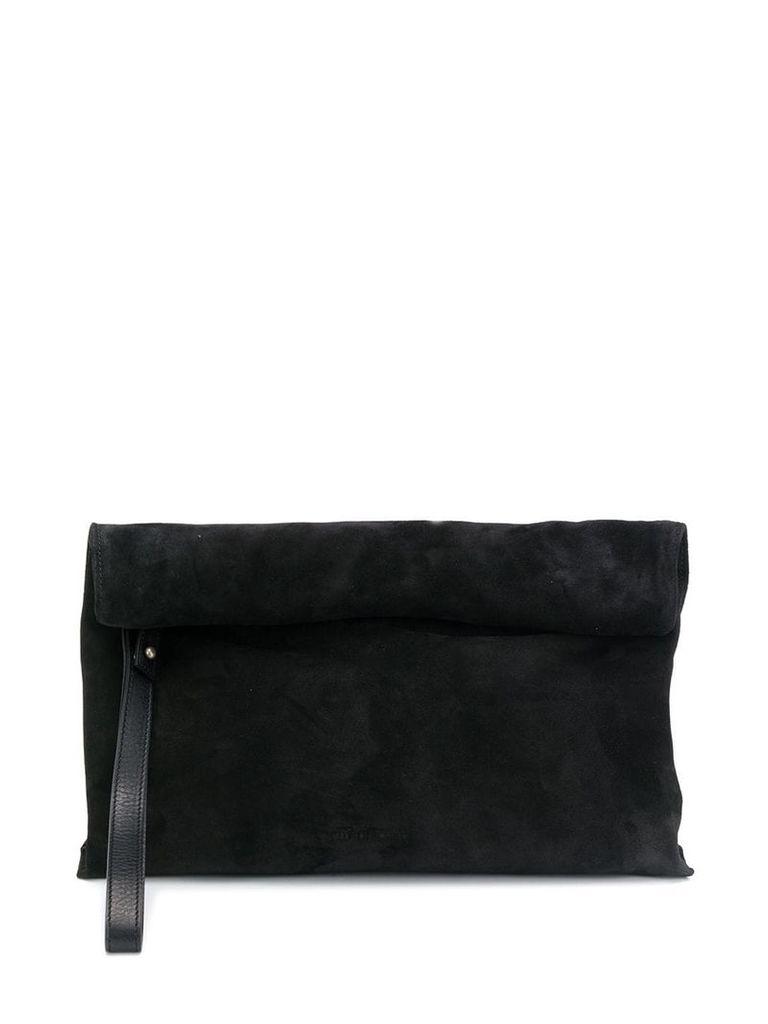 Ann Demeulemeester foldover top clutch - Black