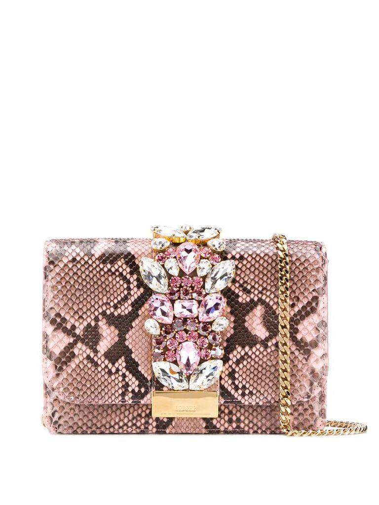 Gedebe Cliky embellished shoulder bag - Pink