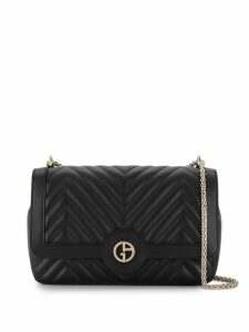 Giorgio Armani quilted shoulder bag - Black