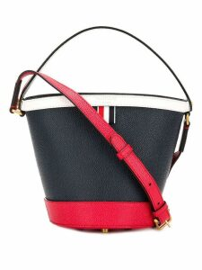Thom Browne Fun Mix Leather Sand Bucket Bag - Blue