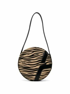 Manu Atelier tiger print shoulder bag - Brown