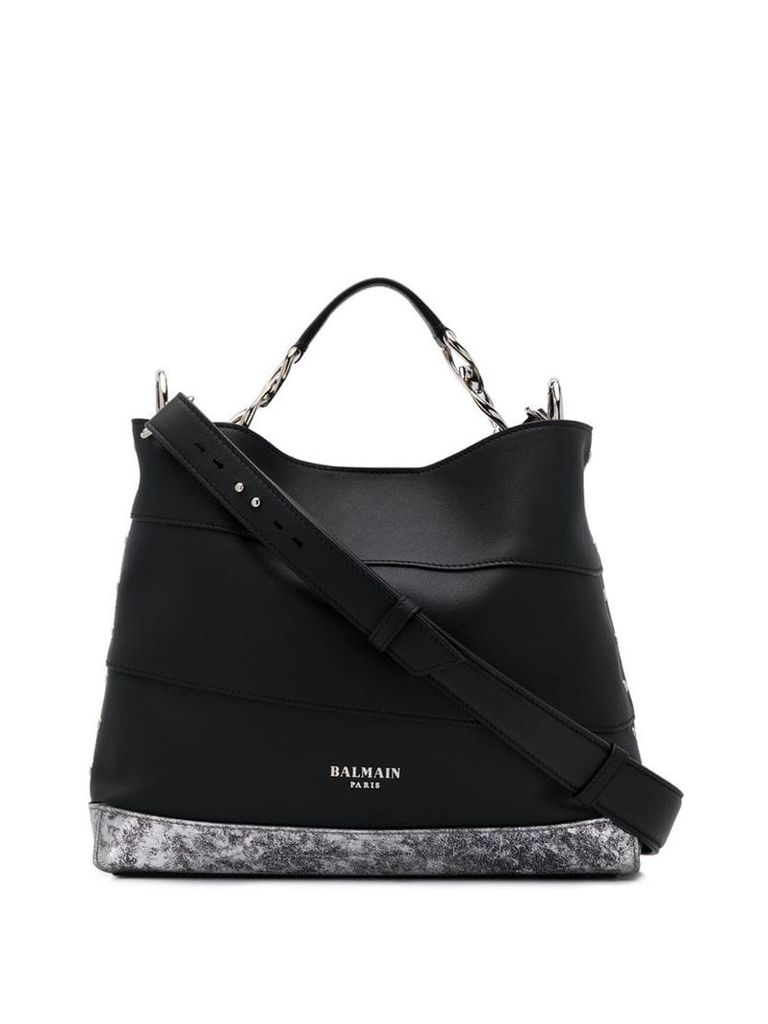 Balmain Polygon Trapeze tote bag - Black