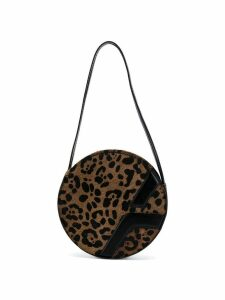 Manu Atelier leopard print shoulder bag - Brown