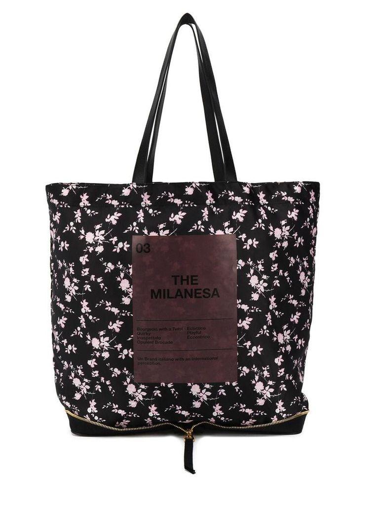 Nº21 The Milanesa floral tote - Black