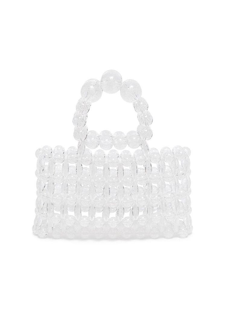 'Cora' beaded top handle bag