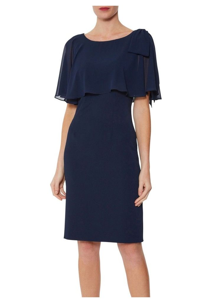 Womens Gina Bacconi Blue Krissy Crepe And Chiffon Dress -  Blue
