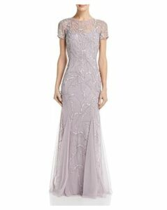 Adrianna Papell Embellished Godet Gown