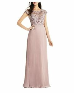 Aidan Mattox Embellished Pleated Gown