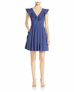 kate spade new york Geo-Dot Flounce Dress