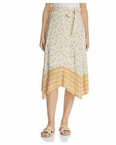 Lost + Wander Marilyn Mixed-Print Floral Midi Skirt