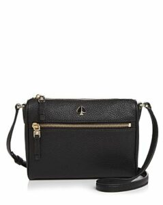 kate spade new york Small Zip-Front Leather Crossbody