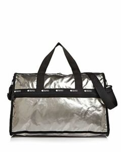 LeSportsac Large Rebecca Metallic Nylon Weekender Duffel Bag