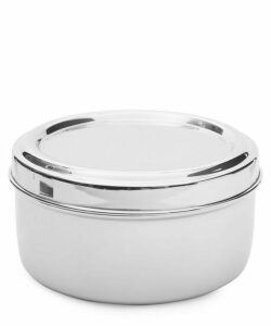 Round Steel Lunchbox With Tray