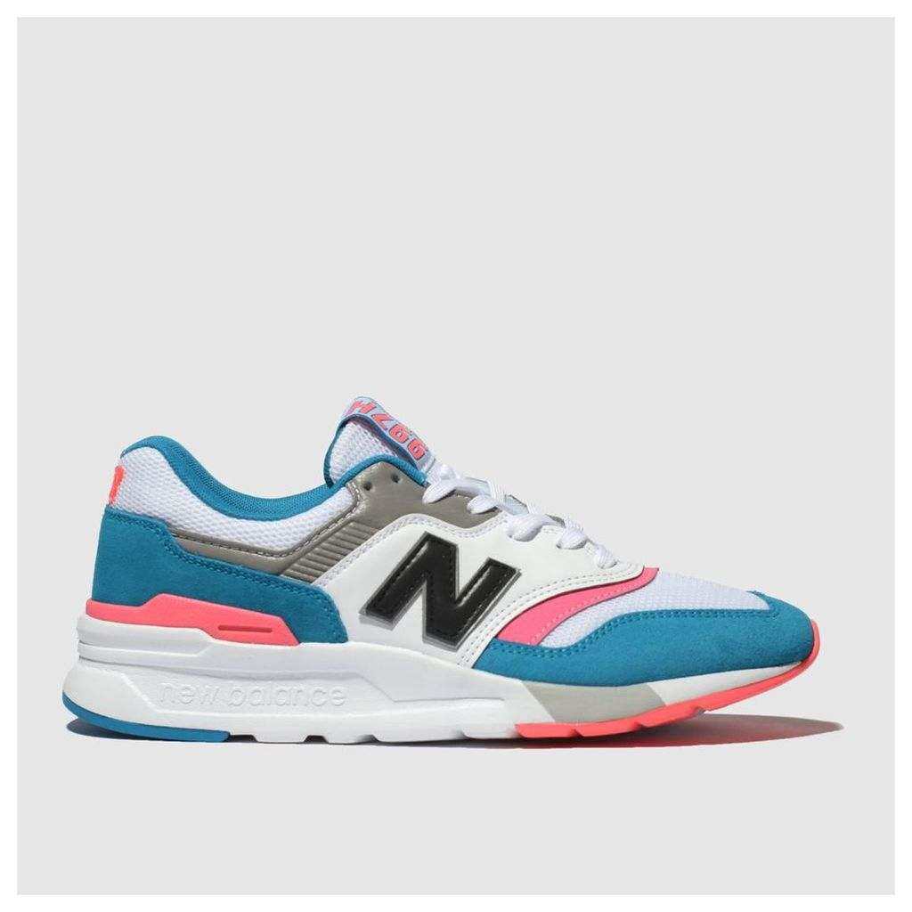 New Balance White & Blue 997h Trainers