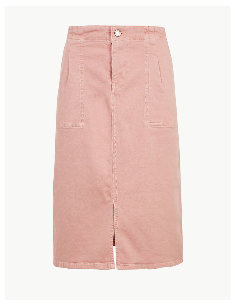 M&S Collection Utility Denim Skirt
