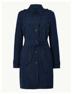 M&S Collection Button Detailed Trench Coat