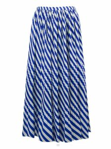 Dries Van Noten Pleated Skirt With Stripes Print