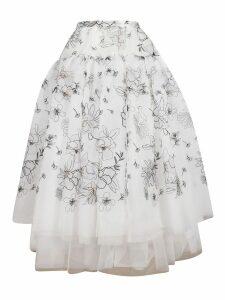 Ermanno Scervino Embroidered Organza Skirt