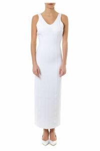 Maison Margiela White Viscose Midi Dress