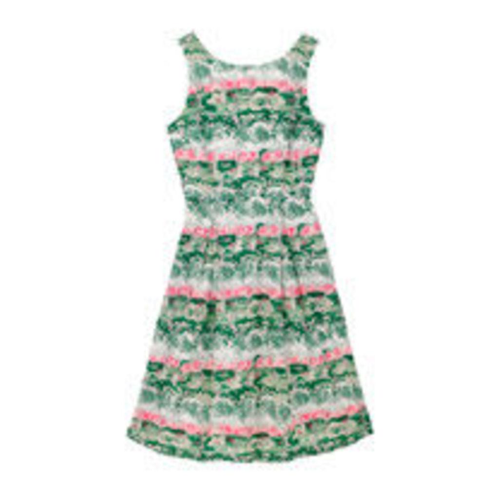 Birch Forest Sleeveless Cotton Cambric Dress