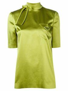 Prada ribbon bow detailed blouse - Green
