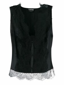 Tom Ford stretch lace tank top - Black