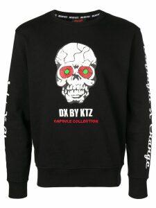 KTZ printed skull sweatshirt - Black