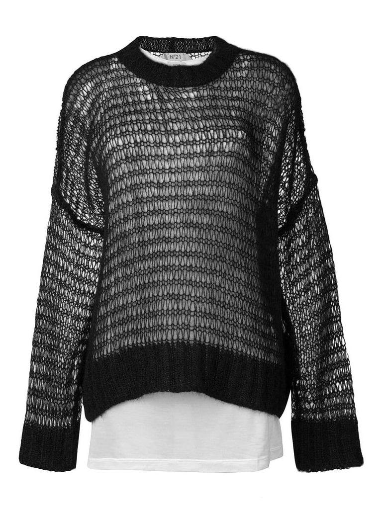 Nº21 oversized layered sweater - Black