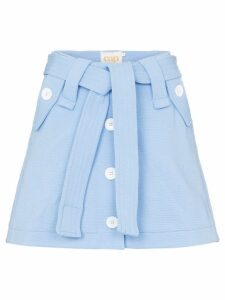 Cap Micheline belted skirt - Blue