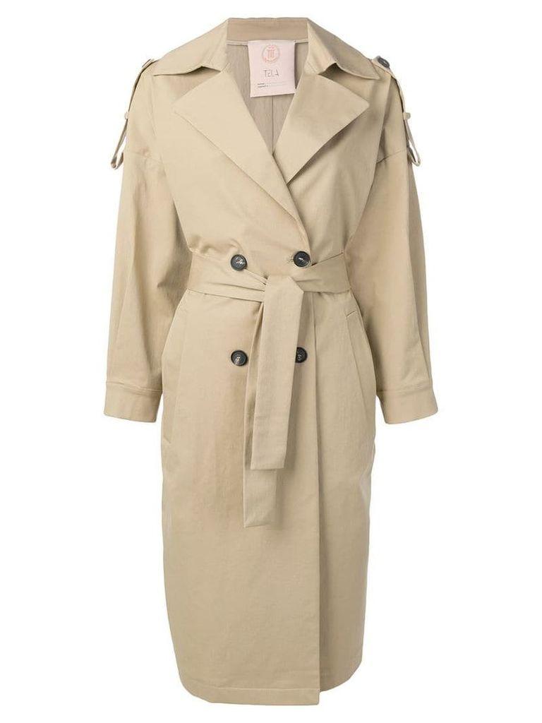 Tela oversized trench coat - Neutrals