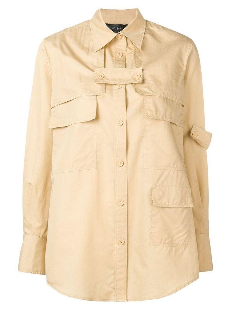 Joseph front pockets shirt - Neutrals