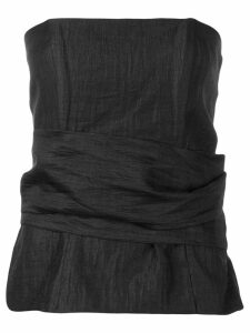 Federica Tosi strapless gathered shirt - Black