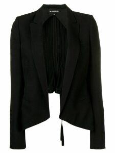 Ann Demeulemeester pleated blazer - Black